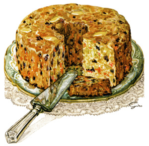 Here is a cleaner version of the illustration of White Fruit Cake.