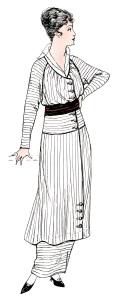 vintage lady clip art, antique womans clothing, vintage fashion illustration, womens clothes 1914, old fashioned dress