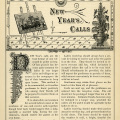 old book page, vintage paper graphics, New Years calls, Victorian social etiquette, junk journal printable, black and white clip art