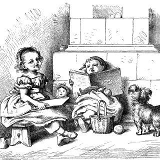Oscar Pletsch children free vintage clip art