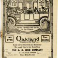 Oakland car ad, antique theatre booklet, vintage ephemera printable, old book cover, Hartford theatre 1916