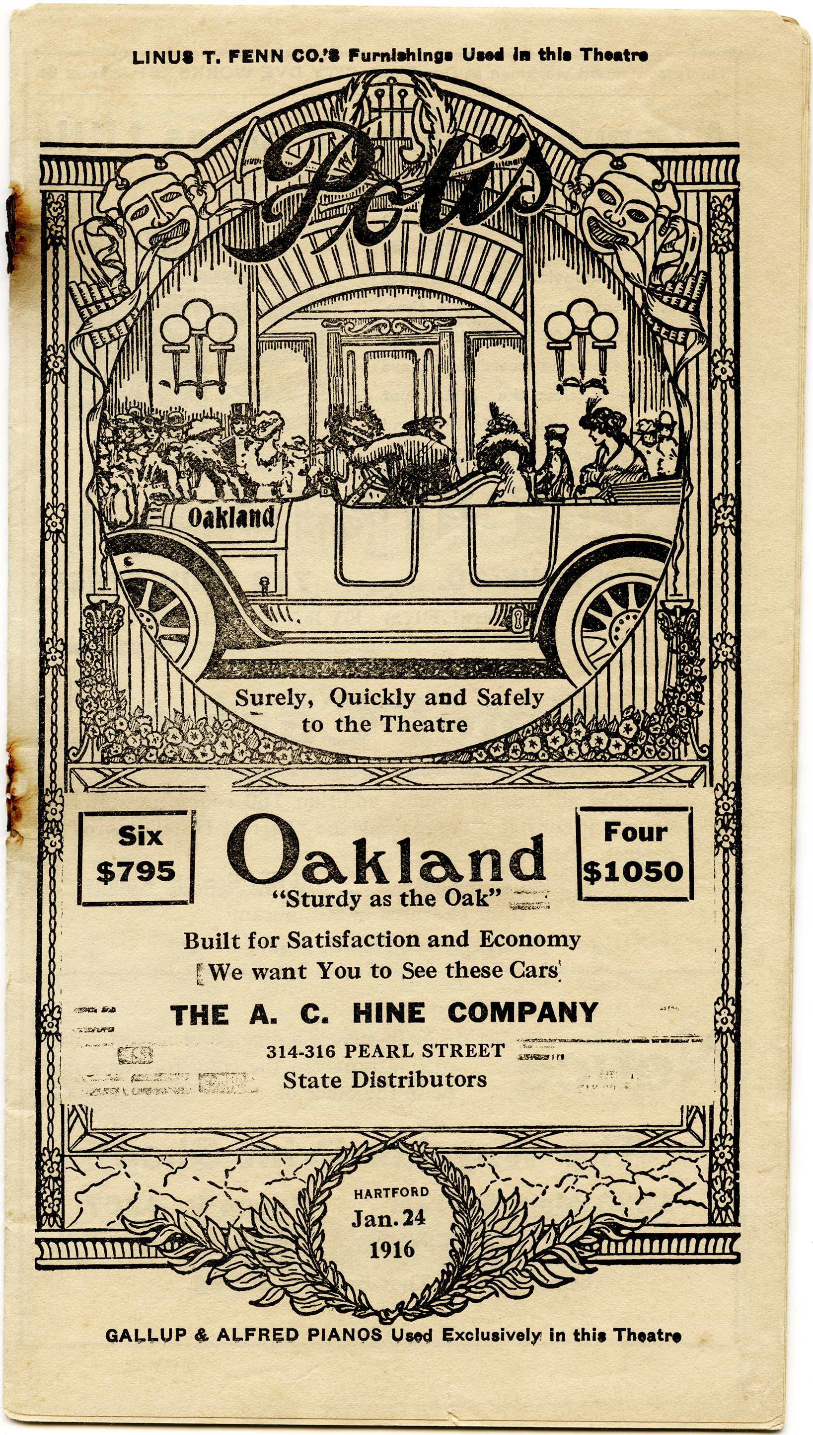antique theatre program cover