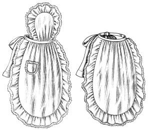 black and white clip art, vintage apron clipart, ladies' apron illustration, old fashioned apron, vintage kitchen graphics