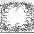 frame clip art, black and white graphics, vintage flowers leaves design, ornamental swirl frame, vintage floral illustration