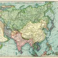 Asia map, vintage map download, antique map, C. S. Hammond, history geography Asia