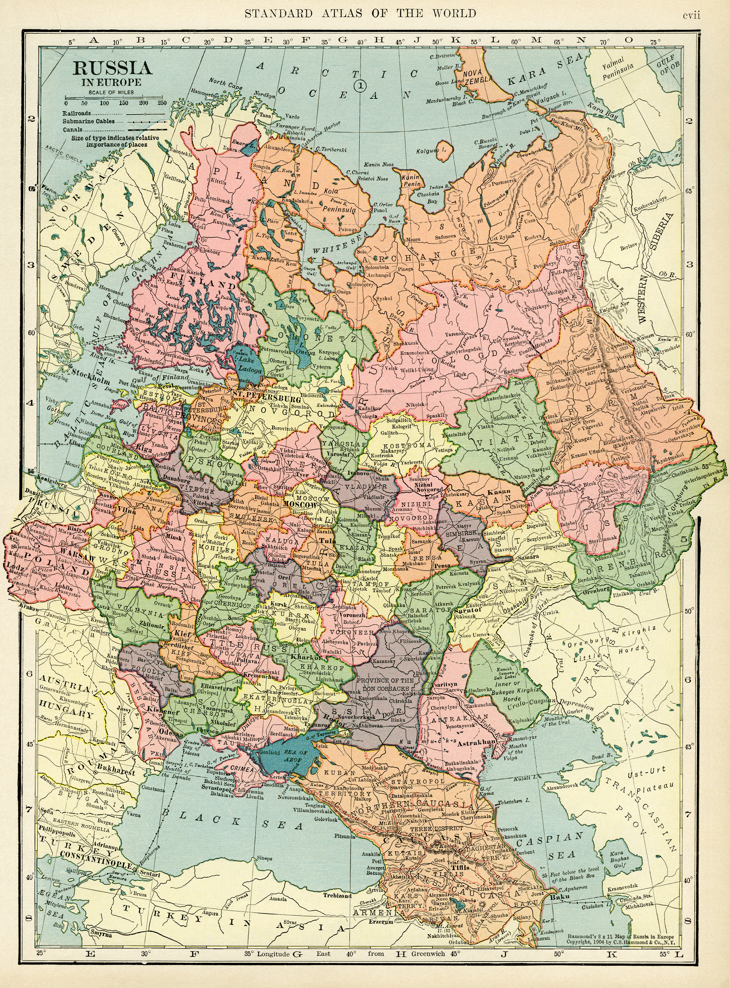 Map of Russia ~ Free Vintage Image
