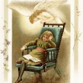 vintage storybook illustration, angel whispers, Victorian child reading, sunbeams and me, vintage angel printable