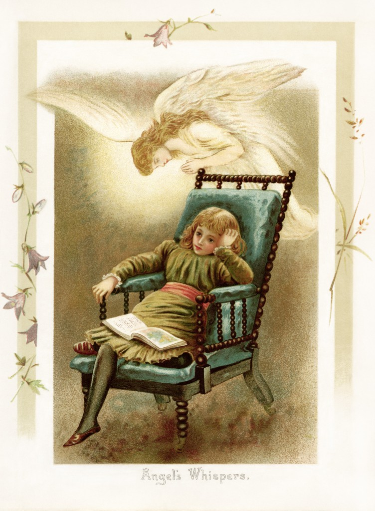 Victorian Home Library: Angel's Whispers Illustration