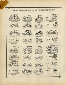 antique car clip art, old book page, carriages and vehicles, old fashioned vehicle illustration, vintage car printable