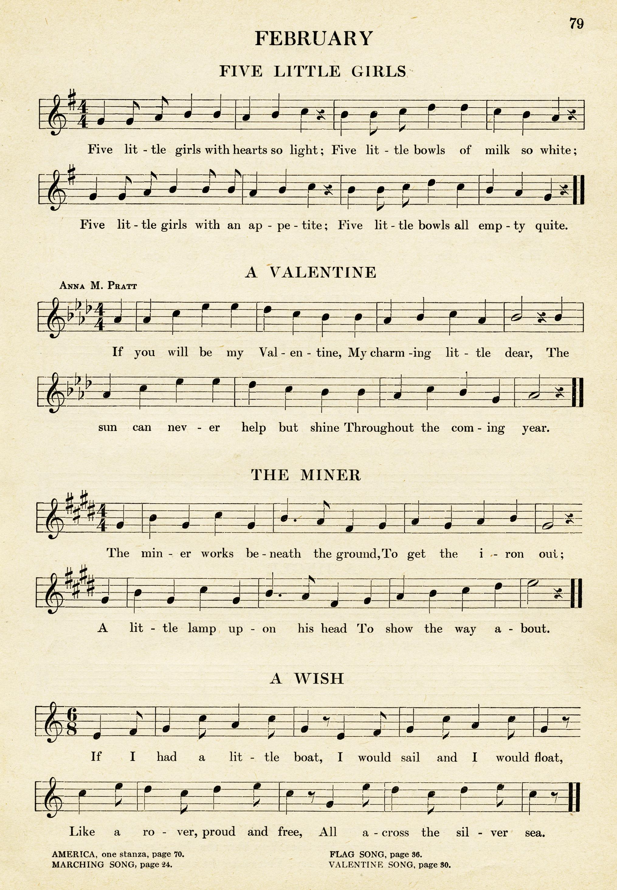 Kindergarten Songs for February