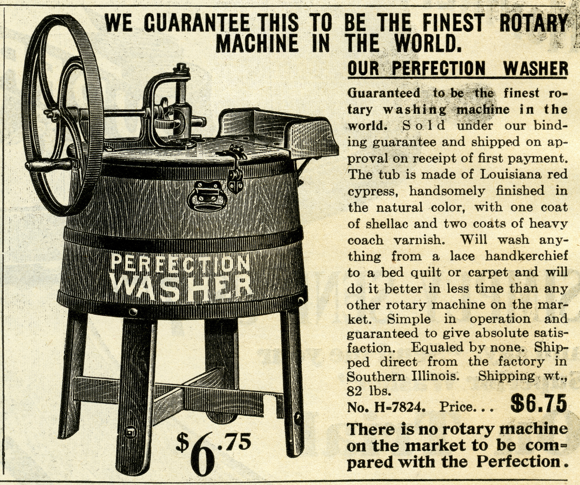 Old Catalogue Ad Vintage Laundry Clip Art Antique Washing Machine Illustration Free Black