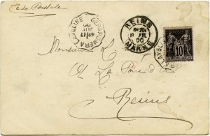Free vintage clip art postcard back Victorian ephemera