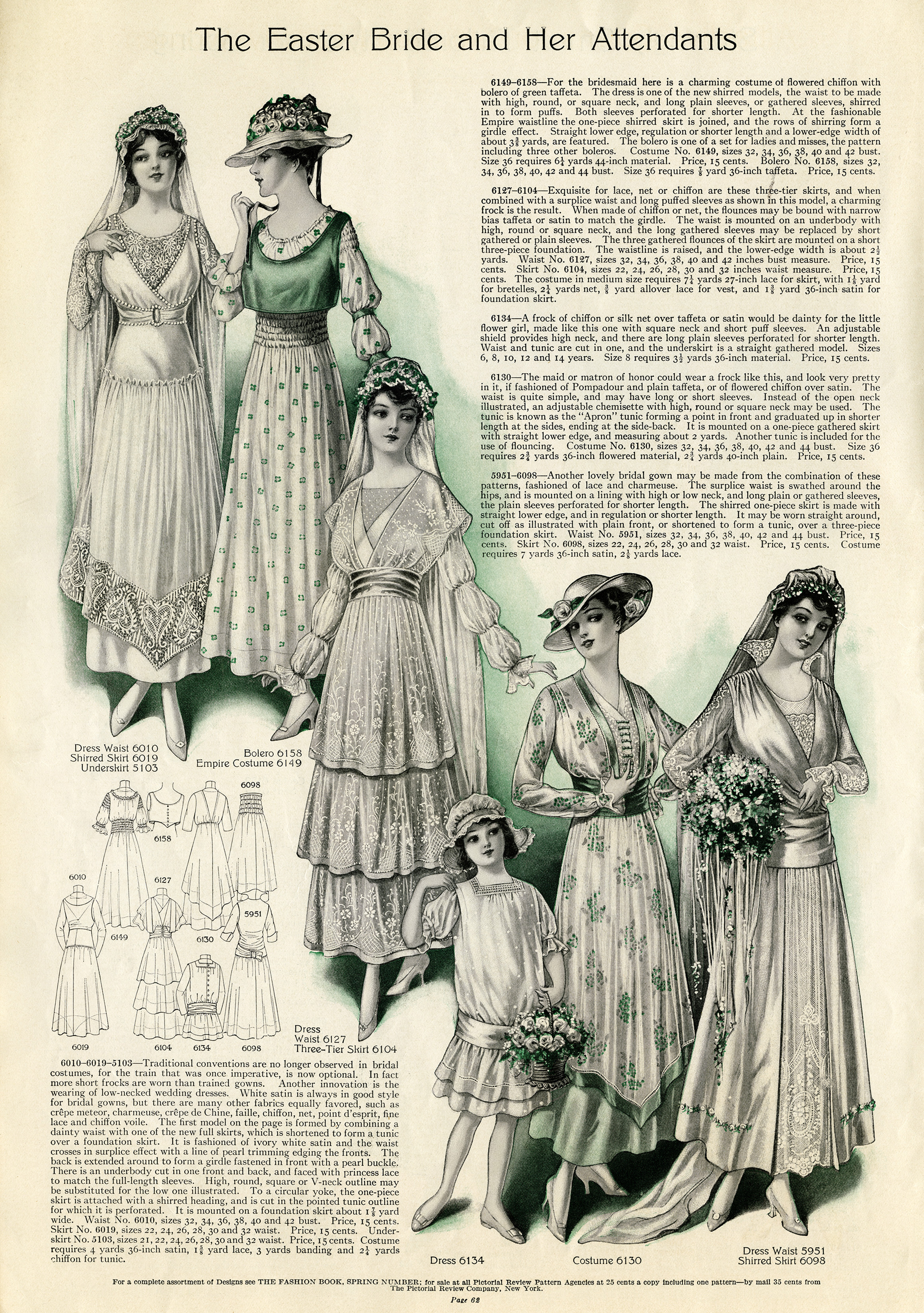 Vintage Wedding Clip Art Edwardian Bride Illustration Antique Bridesmaid Dress Flowergirl Clipart