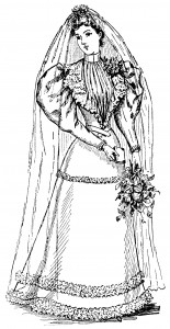 Free vintage clip art wedding bride