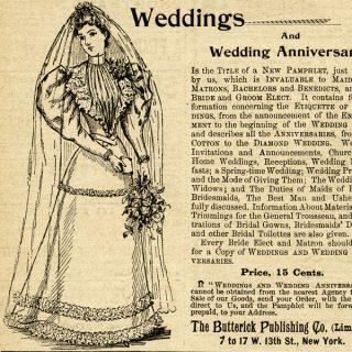 Free vintage clip art wedding bride magazine advertisement