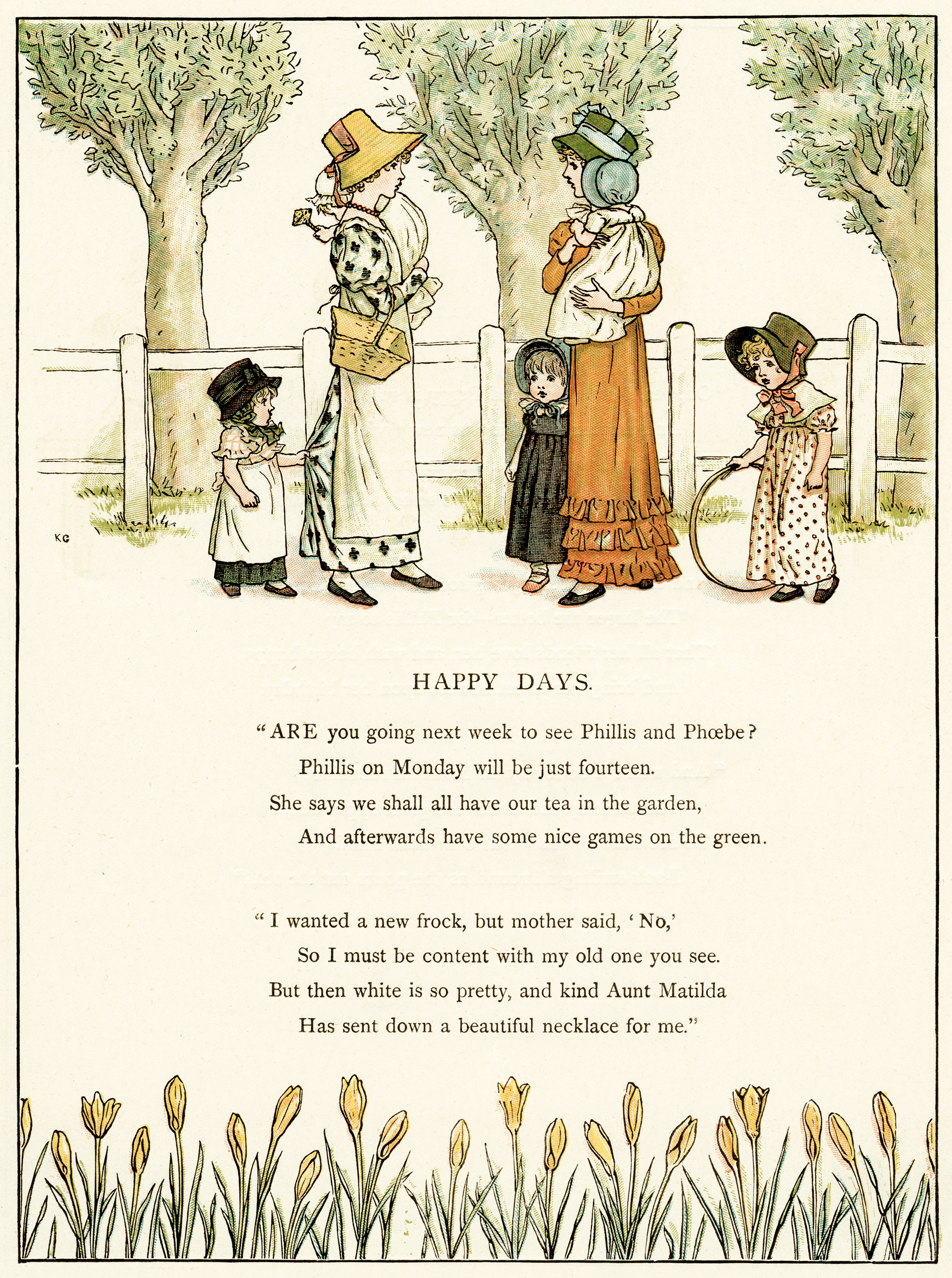 Happy Days by Kate Greenaway - Old Design Shop Blog