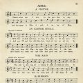 April songs for kindergarten free printable sheet music