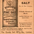 antique magazine ad, Higgins fine salt, old fashioned food advertising, vintage kitchen printable
