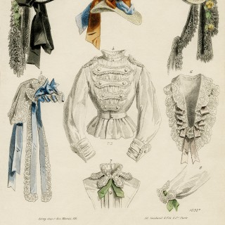 Mid 1800s French Fashion Plate