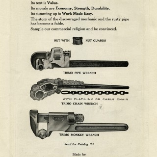 Antique Trimo Wrench Clip Art