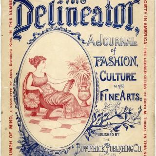 antique magazine cover, delineator magazine, digital grunge paper, old paper, vintage ephemera, vintage graphics, free printable book page, Victorian woman clip art