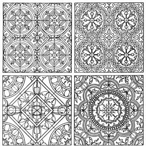 black and white clip art, ornamental design, tiled pattern, free digital pattern, ornamental graphic, franz meyer