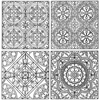 black and white clip art, ornamental design, tiled pattern, free digital pattern, ornamental graphic, franz meyer