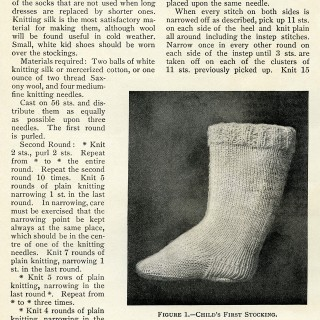 Vintage Knitting Pattern Child's Stocking