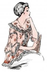 1914 ladies clothing, antique womens clothes, vintage fashion illustration, vintage lady clip art, vintage tea jacket