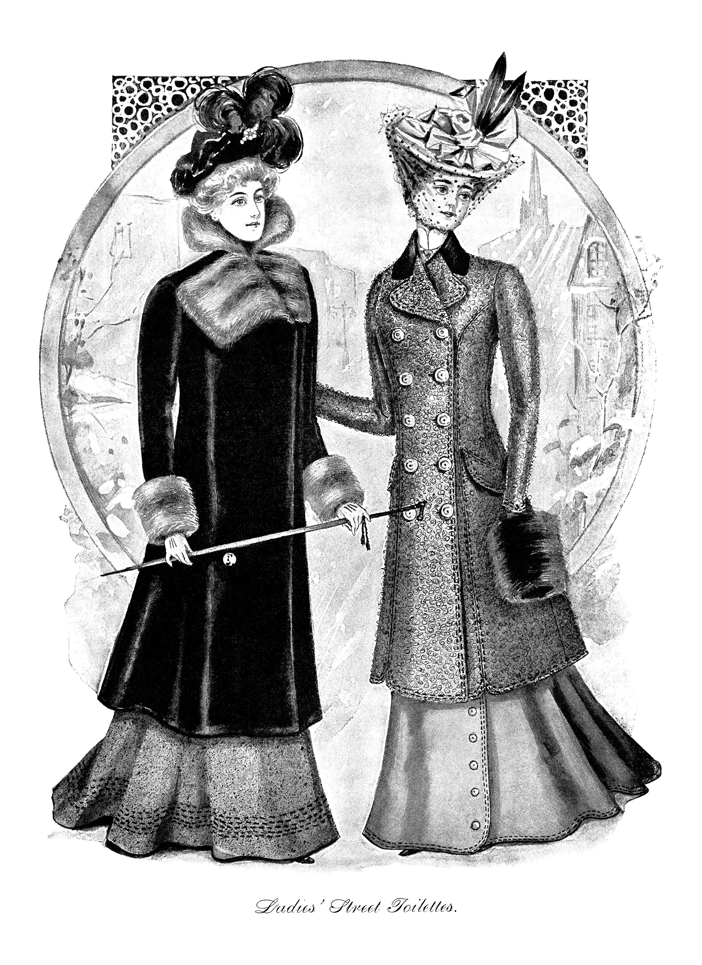 Victorian Ladies Street Toilettes Old Design Shop Blog