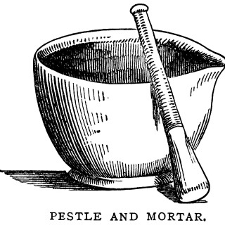 mortar pestle clip art, black and white graphics, vintage food printable, antique pharmacy illustration, vintage kitchen clipart