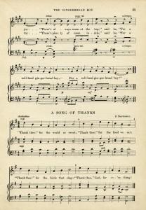 marching song gingerbread boy free printable vintage sheet music ephemera