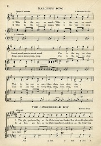 marching song gingerbread boy free printable vintage sheet music ephemera