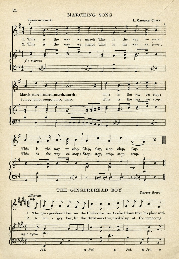 This is an image of Crazy Vintage Sheet Music Printable