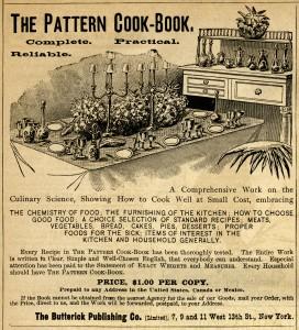 antique magazine ad, black and white clip art, vintage butterick advertisement, table setting illustration, vintage kitchen clipart