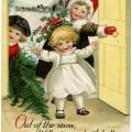 vintage Christmas postcard, Ellen Clapsaddle, Christmas children illustration, Victorian Clapsaddle children, antique Christmas card