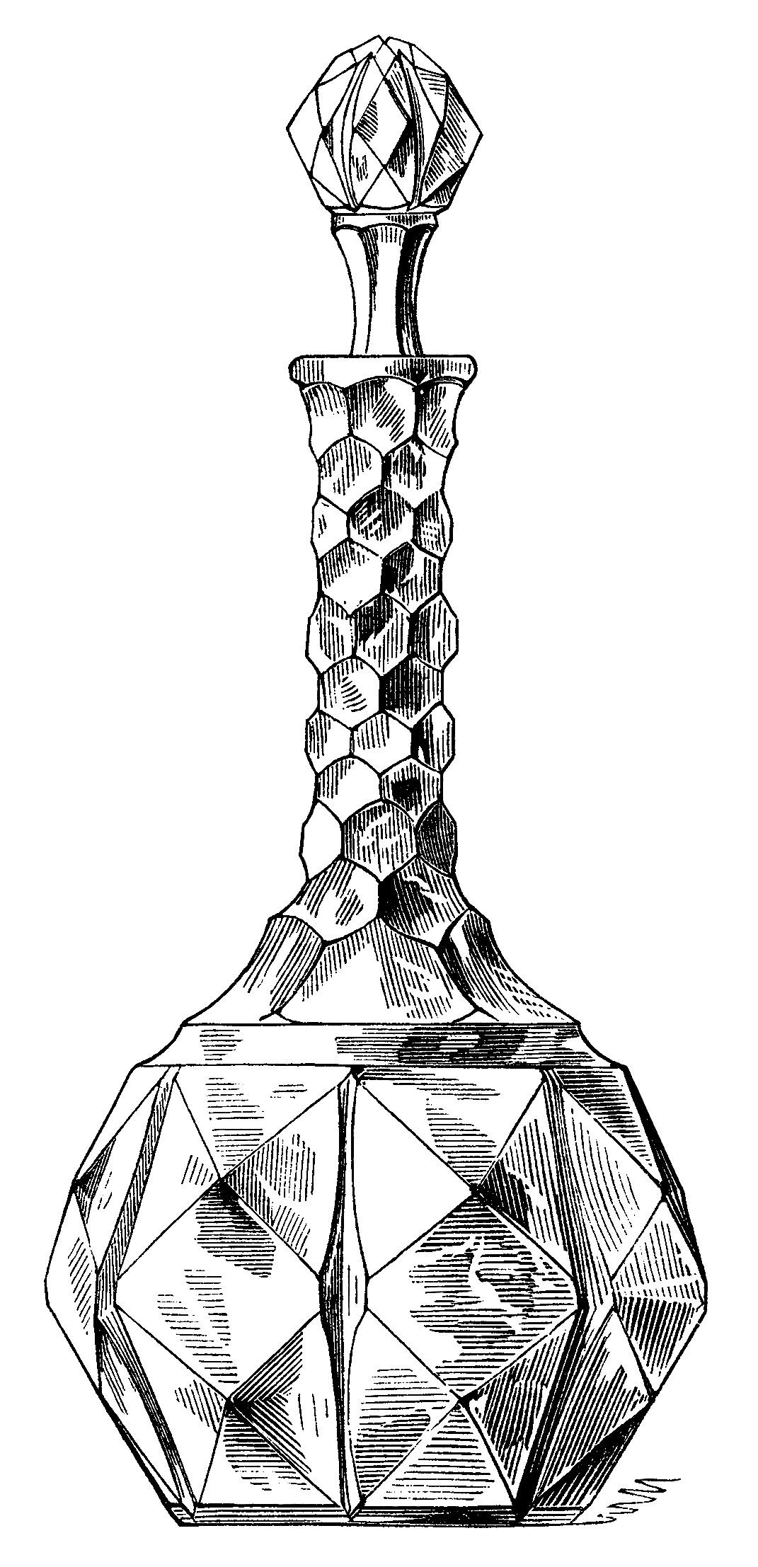 antique wine decanters clip art