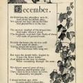 December poem, Katherine Pyle poetry, vintage christmas poem, black and white graphics, Christmas printable