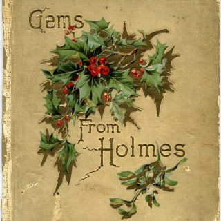 shabby book cover, holly and berries, vintage floral clipart, grunge Christmas graphics