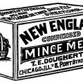 mincemeat ad, dougherty's mince meat, black and white graphics, Christmas clip art, antique magazine ad
