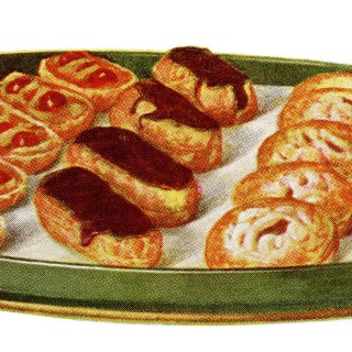 tray of sweets, pastry clip art, vintage food illustration, dessert platter, baking graphics