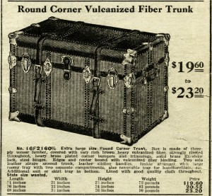 black and white clip art, vintage catalog ad, vintage trunk clipart, antique trunk illus, old fashioned luggage