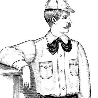 free vintage clip art moustache man