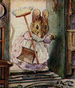 Beatrix Potter, Hunca Munca, storybook mouse, mouse clip art, vintage mouse illustration