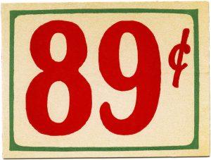 free printable vintage grocery store price tag