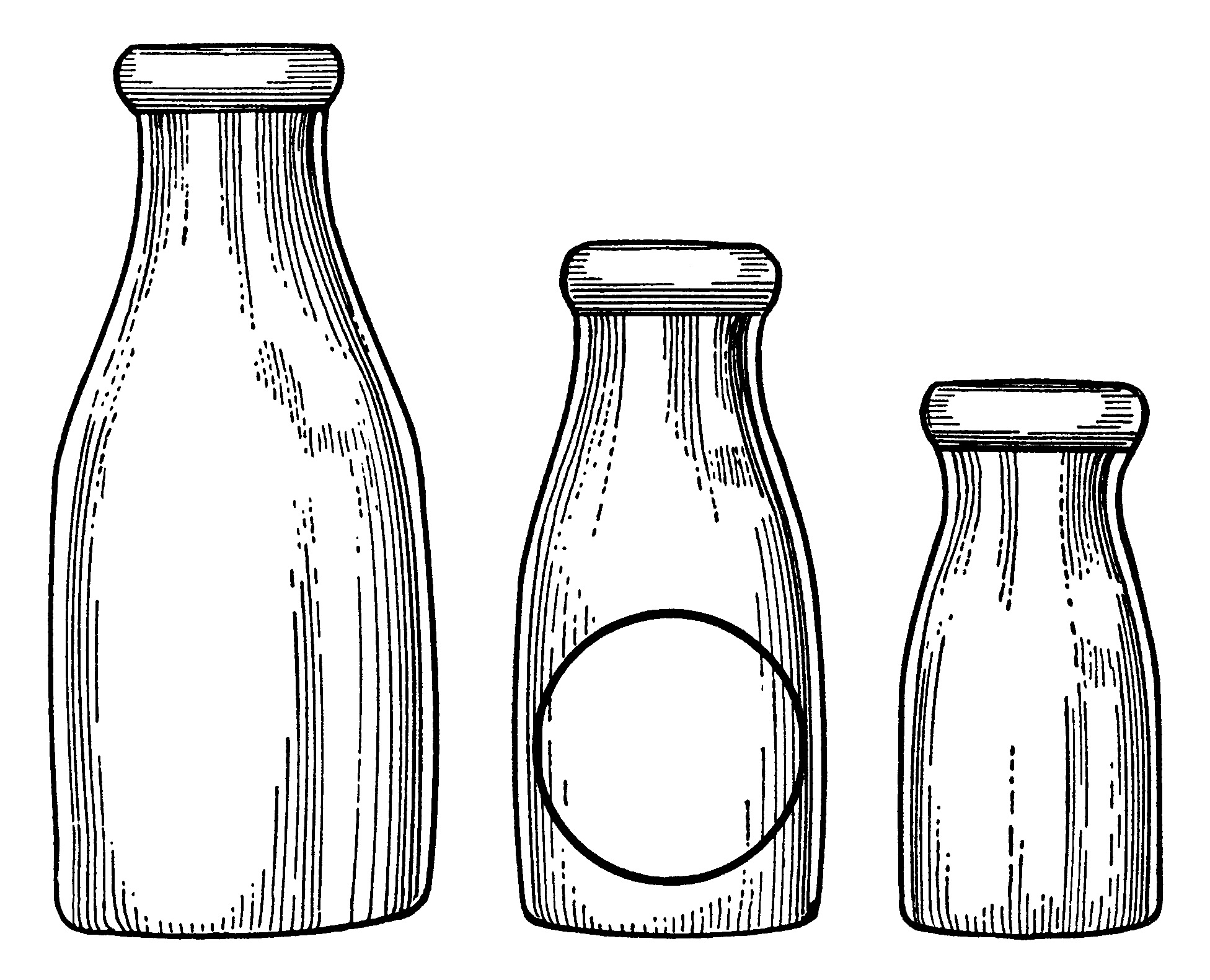 Glass milk bottle clip art images Painting old glass bottles