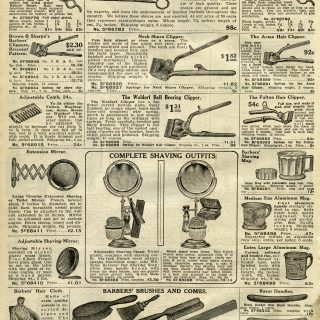 Hair Clippers, Barbers Shears and Shaving Supplies