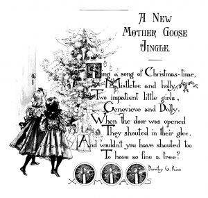 Christmas poem, new mother goose jingle, vintage Christmas, Christmas clip art, printable Christmas