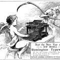 typewriter clip art, vintage typewriter ad, Remington typewriter, new year clip art, black and white graphics