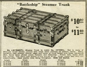 free vintage clip art battleship steamer trunk catalog advertisement